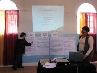 Bella and Zoliswa facilitating the OVP